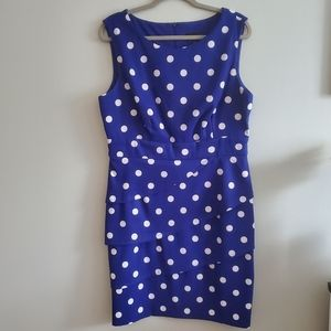 Connected | 16 | Blue and White Polkadot Dress